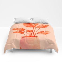 Coral Banana Plant Comforters