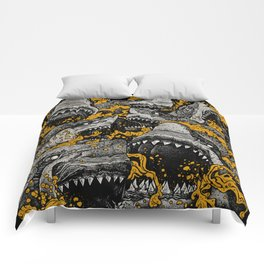 Sharks (Color version) Comforters