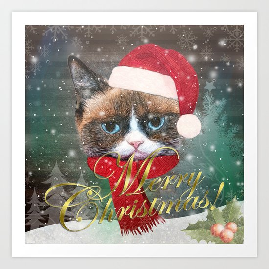 ~ Meowy Christmas ~ Art Print