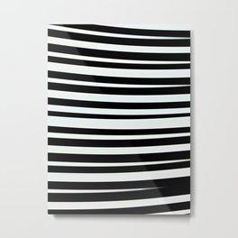 JUVIE - modern take on classic black and white stripes Metal Print