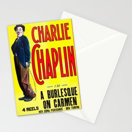 Charlie Chaplin - A Burlesque on Carmen, 1916 Vintage Poster for Wall Art, Prints, Poster, Tshirts, Men, Women, Kids Stationery Cards