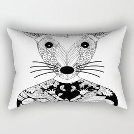 Portrait of a teen mouse wearing a T-shirt Rectangular Pillow