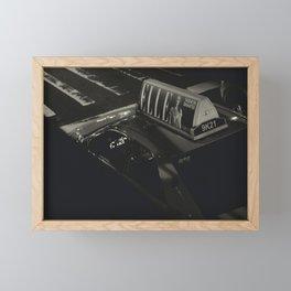 Elle's Taxi Framed Mini Art Print