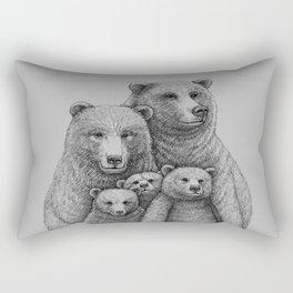 Family photo (mr. Bear) Rectangular Pillow