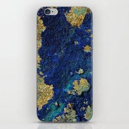 Indigo Teal and Gold Ocean iPhone Skin