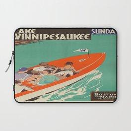 Vintage poster - Lake Winnipesaukee Laptop Sleeve