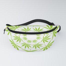 Cannabis Leaf Circle (White) Fanny Pack