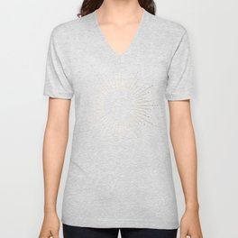 White Gold Sands Unisex V-Neck