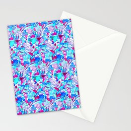 Blue Purple jungle Stationery Cards