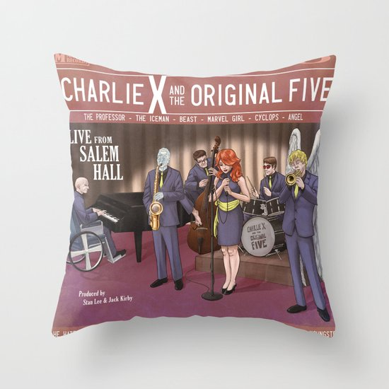 Charlie X and the Original Five: Live at Salem Hall Throw Pillow