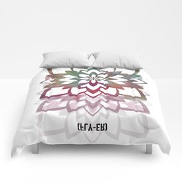 Psychedelic Lotus by Fly-er Prints  Comforters