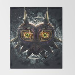 Epic Pure Evil of Majora's Mask Throw Blanket