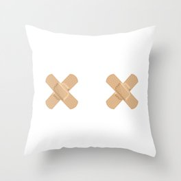 Not Your Usual Babes Throw Pillow