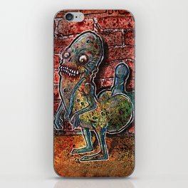 Dickbutt gone zombie iPhone Skin