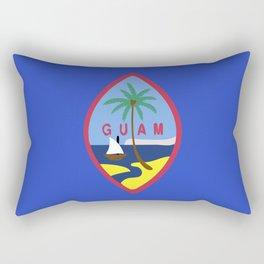 Guam flag emblem Rectangular Pillow