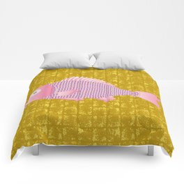 Snapper on Gold-leaf Screen Comforters