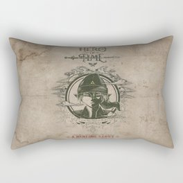 Legend of Zelda Link the Hero of Time Vintage Book Cover Rectangular Pillow
