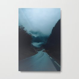The Road Darkens Metal Print