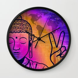 Buddha World Peace Wall Clock