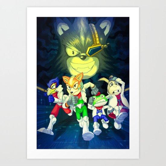 Run Fox, Run ! Art Print