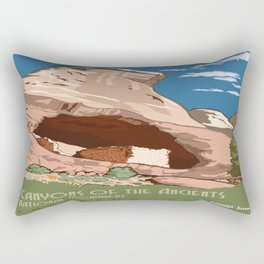Vintage poster - Canyons of the Ancients Rectangular Pillow