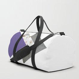 Ultra Violet Blossoms Arrows Duffle Bag