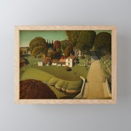 Birthplace of Herbert Hoover, West Branch, Iowa by Grant Wood Framed Mini Art Print