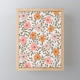 70s Floral Theme Framed Mini Art Print