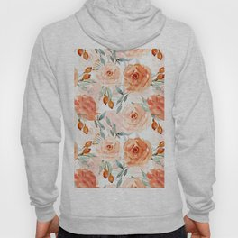 Living Coral Autumnal Roses Hoody