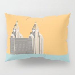 Liverpool Liver Building Print Pillow Sham