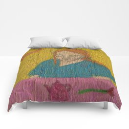 Rosie with teapot Comforters