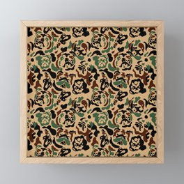 English Bulldog Camouflage Framed Mini Art Print