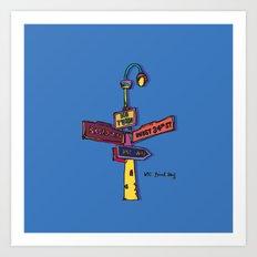 Traffic signal Art Print