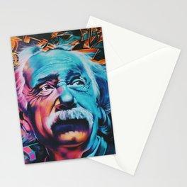 Einstein graffiti Stationery Cards