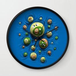 Emoticontagious Wall Clock