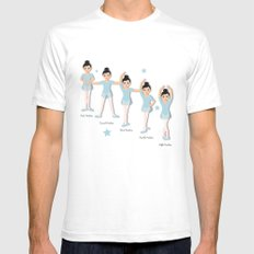 The Ballet Lesson White SMALL Mens Fitted Tee