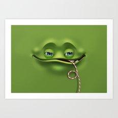 Joyful face Art Print