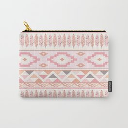 Pink Boho Tribal Aztec Carry-All Pouch