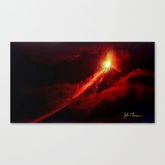 Fuego Volcano Canvas Print