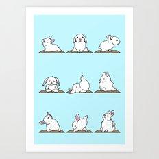 Bunnies Yoga Art Print