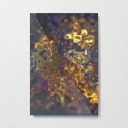 Purple Yellow Gemstone Pattern Metal Print