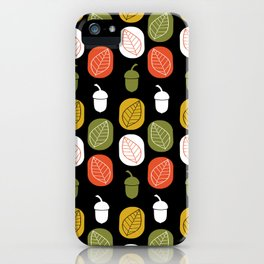 Acorns & Leaves Fall Design iPhone Case