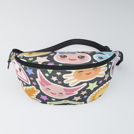 Funny Kawaii zodiac sign,  virgo, aries, gemini, cancer, aquarius, taurus, leo, libra sagittarius Fanny Pack