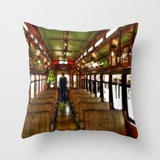Trolley Train Throw Pillow