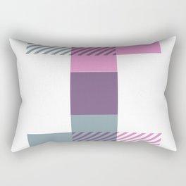 Rotation Alphabet 'I' On White Rectangular Pillow