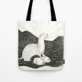 Smooth Coated River Otter Tote Bag