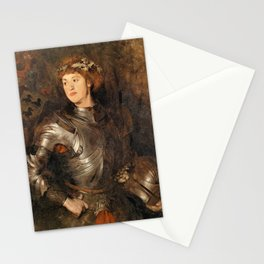 Young Man In Armor - Wilhelm Trubner Stationery Cards