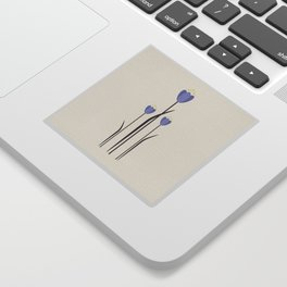 Minimal Bluebells Sticker