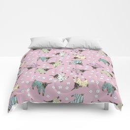 Pajama'd Baby Goats - Pink Comforters