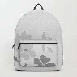 TWIN FLOWERS - GREY Backpack